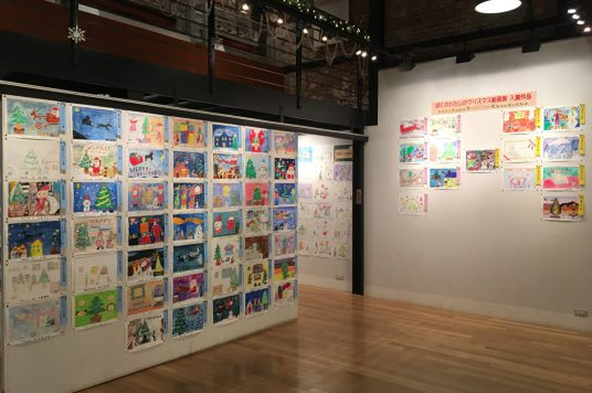 ぼくのわたしのクリスマス絵画展を開催しております。函館ヒストリープラザでも展示中!